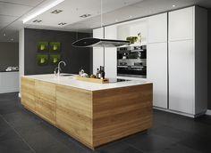 Afbeeldingsresultaat voor hout zwart wit keuken