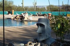 Fantastic pool with terrific, private, desert views. Www.desertjoy.net Tucson/Marana - Clothing Optional Home Network