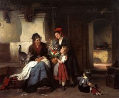 Visit to Grandmother's, by Rudolf Epp (German, 1834-1910)