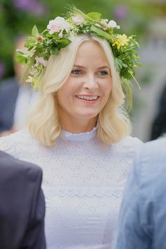 23 June 2016 | Crown Princess Mette-Marit of Norway attends a garden party during the Royal Silver Jubilee Tour in Trondheim, Norway. © Ragnar Singsaas/Getty Images Europe