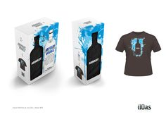 Development of 'Identity' for Packaging and Packaging Dual + shirt Absolut, containing gift card with collectible lenticular 3d illustration.