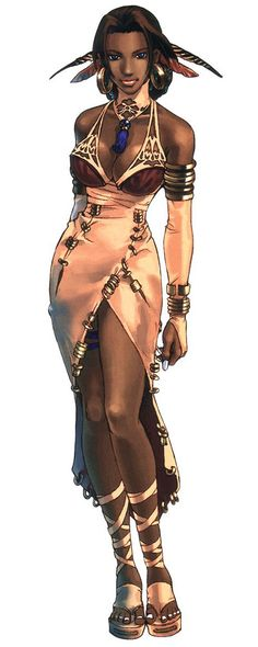 Lucia - My series favorite from Shadow Hearts: Covenant. She's a flighty fortune telling, dancing, aromatherapist from Florence, Italy. :3