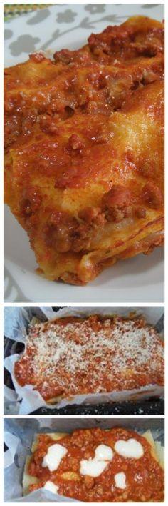 Lasagna con pane carasau, in sostituzione della pasta all' uovo...buonissima!! #lasagna #panecarasau #ricettegustose Tortellini, Lasagna, French Toast, Gnocchi, Breakfast, Ethnic Recipes, Home, Oven, Fantasy