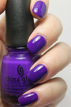 The very epitome of blurple! China Glaze Creative Fantasy | swatched by OMG! Polish 'em!