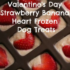 Valentine's Day Strawberry Banana Heart Frozen Dog Treats  https://japancatnetwork.org/