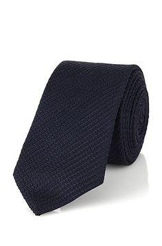 Corbata en mezcla de seda: 'Tie 6 cm' Corbata en mezcla de seda: 'Tie 6 cm', Azul oscuro