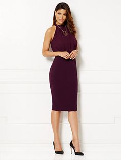 ea67b8ee9f0b6 Eva Mendes Collection - Helene Crossover Dress - New York   Company