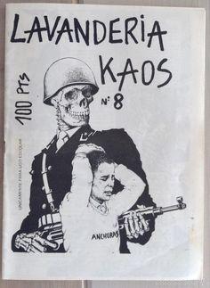 Fanzine Lavanderia Kaos numero 8 Valdepeñas punk Hardcore política Anarkotics, HHH, insumisión - Foto 1