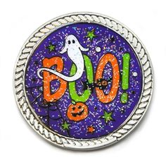 BLING your best pair with glitzy Boo! Ball Marker and Round Kicks Candy Shoe Ornament. A fun way to celebrate Halloween with this BOO-tastic ball marker.