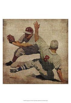 option for bathroom art. Vintage Sports VII Poster Print