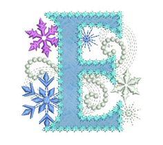 Ice Princess appliques lettre E congelés tissu Decor appliques Design de broderie Machine pour les filles DL036