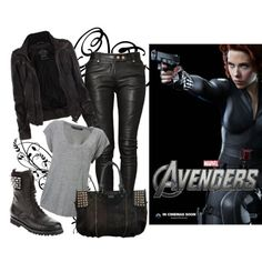 Black widow inspired outfit...not into the avengers but this is cute. I would totally rock this.