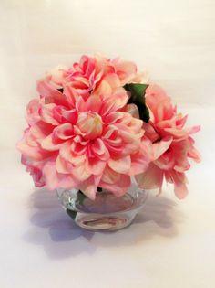 Highest Quality Large Pink Dahlia Blooms Set by RiversEdgeRelics