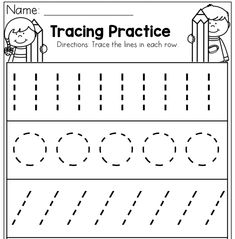 Preschool Tracing Practice WorksheetsYou can find Preschool worksheets and more on our website. Nursery Worksheets, Letter Worksheets For Preschool, Preschool Workbooks, Preschool Writing, Kindergarten Math Worksheets, Preschool Letters, Preschool Curriculum, Preschool Printables, Tracing Practice Preschool