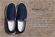 ポニックアンドコー/PONIC&Co.DEANEVAスリッポンINDIGONAVY/INDIGONAVYPR13004メンズ/レディース/シューズ/スニーカー/送料無料