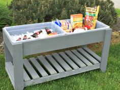 Learn how to build an outdoor serving table or cart in this woodworking tutorial in just two afternoons using just a few power tools. Outdoor Serving Cart, Serving Table, Diy Outdoor Furniture, Outdoor Decor, Outdoor Ideas, Diy Furniture, Outdoor Living, Outdoor Projects, Wood Projects
