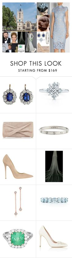 """Attending the wedding of Alicia Rookwood and Bradley Fewer at the St. Margaret's Church, Westminster"" by duchess-of-smaland ❤ liked on Polyvore featuring Rachel Trevor-Morgan, Tiffany & Co., Reiss, Cartier, Jimmy Choo, Elsa Peretti and Lagos"