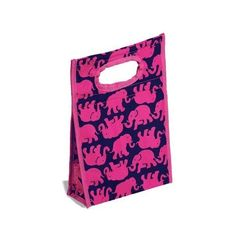 Lilly Pulitzer Insulated Lunch Bag Tusk in Sun ($4.99) ❤ liked on Polyvore featuring accessories