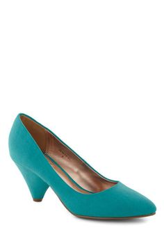 Adorable Vegan Shoes: Lemonade My Day Heel in Blueberry, #ModCloth