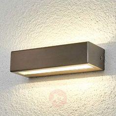 Patricia - retlinet LED-udendørslampe, rustfr.st.