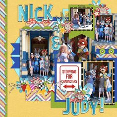 Nick & Judy digital scrapbooking page using Project Mouse (Run) by Britt-ish Designs and Sahlin Studio