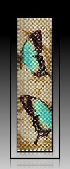 Lacey Butterflies - 2 Drop Peyote Cuff/Bracelet PATTERN