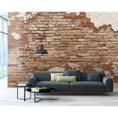 WR50508 - Distressed Brick Wall Mural - by Wall Rogues