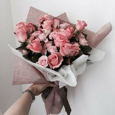 Uploaded by Find images and videos about pink, flowers and rose on We Heart It - the app to get lost in what you love. My Flower, Beautiful Flowers, Flower Packaging, Flower Aesthetic, Arte Floral, Pink Roses, Planting Flowers, Floral Arrangements, Wedding Flowers