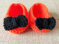 Hand Knitted Baby Bootees Slippers Booties by HandKnittedYorkshire