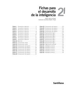 fichas-para-el-desarrollo-de-la-inteligencia-2-primaria-16282351 by ceippadremanjonbenahadux via Slideshare