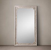 Louis XVI Beaded Leaner Mirror - Natural