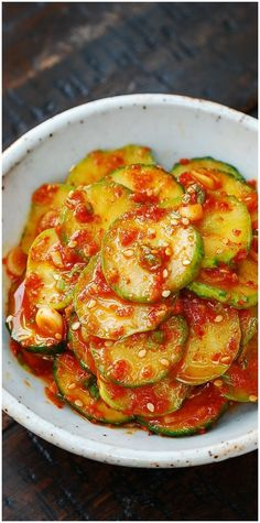 Spicy cucumber salad (oi muchim) - so easy to make, so delicious!