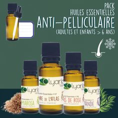 Anti-Pellicules : le Pack d'Huiles Essentielles Active, Dandruff, Shampoo, Hair Care, Homemade, Beauty, Oil Slick Hair, Face Beauty, Backyard Sheds