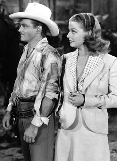 """blondecrazydame: """" James Cagney and Ann Sheridan in Torrid Zone, 1940. """""""