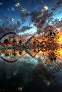 colorful #Disney park