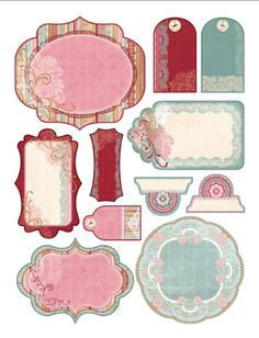 Free printable from paperwishes.com that goes with their Lacey Paper Pack