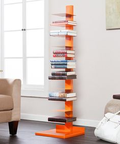 Love this Orange Spine Book & Media Tower by Southern Enterprises on #zulily! #zulilyfinds