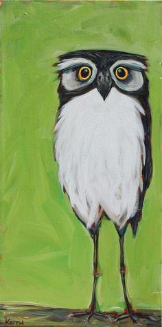Owl by  Kandice Keith Pinned by www.myowlbarn.com
