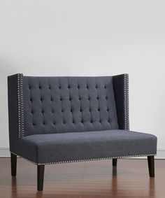 Look at this Gray Halifax Linen Banquette Bench on #zulily today!