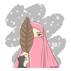 @art.letsa We Bare Bears Wallpapers, Cute Wallpapers, Girl Beach Pictures, Hijab Drawing, Islamic Cartoon, Hijab Cartoon, Islamic Girl, Simple Cartoon, Muslim Girls