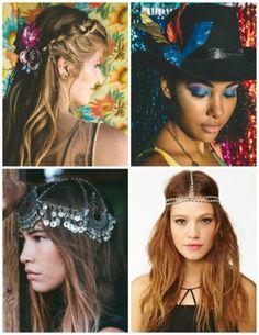 cabelo e arranjos de carnaval