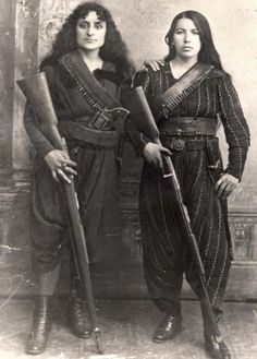 Armenian guerilla fighters during the Hamidian massacres, 1895