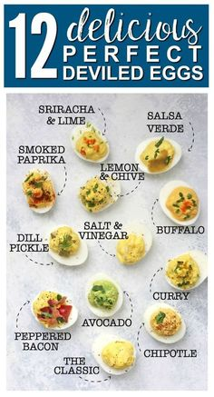 My Guide to Perfect Deviled Eggs (Paleo Approved!) My Guide to Perfect Deviled Eggs – My FAVORITE method for deviled eggs plus TWELVE delicious flavor combinations! All are paleo approved, gluten free, and absolutely delicious. Delicious Deviled Egg Recipe, Perfect Deviled Eggs, Best Deviled Eggs, Avocado Deviled Eggs, Recipe For Deviled Eggs, Deviled Egg Recipe No Mustard, Healthy Deviled Eggs, Devilled Eggs Recipe Best, Egg Salad Recipe 12 Eggs
