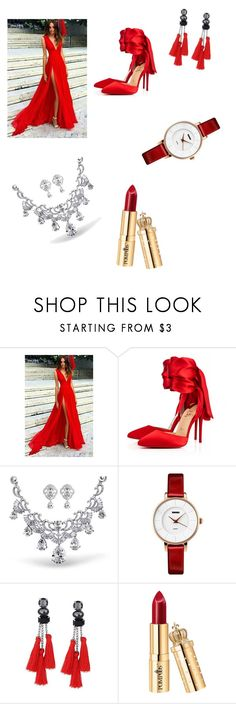 """""""Classy red carpet look"""" by jimenezmonica ❤ liked on Polyvore featuring Christian Louboutin"""