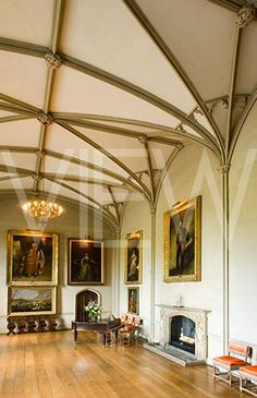 The Music Room at Plas Newydd, on the Isle of Anglesey, Wales
