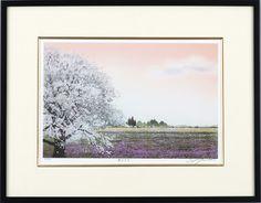 筑後平野に広がる田園風景を、春の温もりを背中に感じながら描いた作品。春うらら・・宮本秋風(みやもと しゅうふう) 1958~. 1958年生まれ