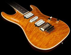 Suhr Standard with Carved Quilt Top in Caramel