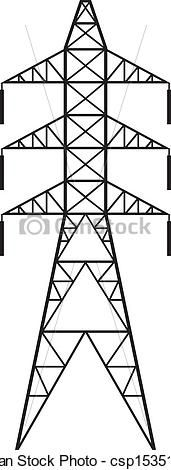 Vector - Power line - stock illustration, royalty free illustrations, stock clip art icon, stock clipart icons, logo, line art, EPS picture, pictures, graphic, graphics, drawing, drawings, vector image, artwork, EPS vector art