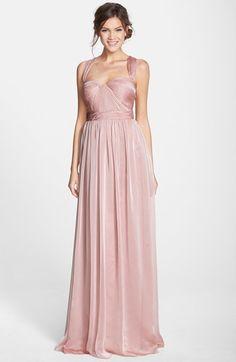 Blush Monique Lhuillier #Bridesmaid Shirred Chiffon Gown