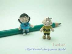 1 Zoll Puppe Paar Miniatur crochet Amigurumi Puppe von LamLinh
